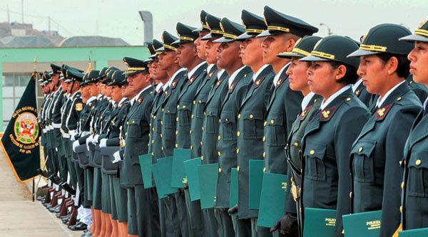 Suboficiales de la Policia del PERU PNP