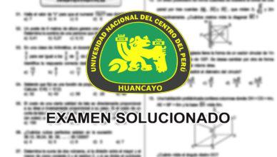 UNCP Examen de Admision Solucionado